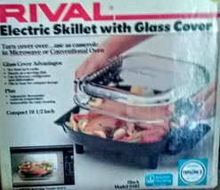 """USA Rival Model 5102 Electric Skillet 10 1/2""""  Glass Lid-NEW IN THE BOX ... - £56.68 GBP"""