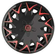 4 GV06 20 inch Staggered Black Red Rims fits FORD MUSTANG BOSS 302 2012-2014 - $849.99