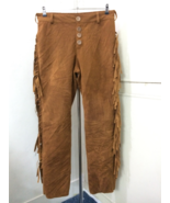 Men New Native American Style Faux Brown Suede Leather Fringes Hippie Pa... - $79.00+