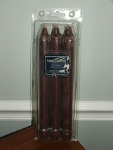 """NEW IN PACKAGE 6 COLONIAL CANDLE MULBERRY SCENT  10"""" Tapers - - $18.80"""