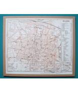"ITALY Bologna City Plan + Railroads - 1931 BAEDEKER MAP 8 x 9 ""  19 x 23 cm - $16.20"