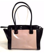 "NICE! GIANI BERNINI LEATHER HANDBAG PURSE TAN TWO TONE 13.5"" L X 11""T X ... - $29.99"