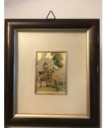 """Vintage Mini Art Decor Signed Plaque 2""""x3"""". Framed - $24.75"""
