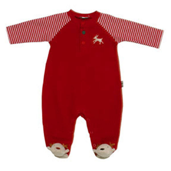 Primary image for Le Top Baby Boys Christmas Reindeer Footed Sleeper