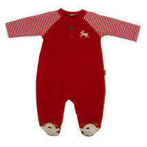Le Top Baby Boys Christmas Reindeer Footed Sleeper   - $35.00