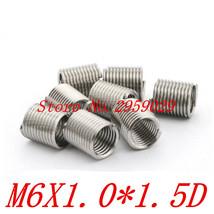 100pcs M6*1.0*1.5D Insert Stainless steel m6 bushing Wire screw sleeve T... - $13.95