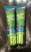 Bath Body Works Liplicious Waikiki Beach Coconut Lip Gloss shine - $39.99