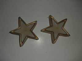 Set of 2 star shaped glass candle holders -  NEW - $5.93