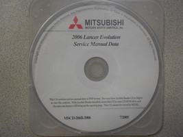 2006 Mitsubishi Lancer Evolution Service Shop Repair Manual Cd Factory New - $257.35