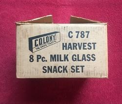 Vintage Colony Harvest Grape Milk Glass snack set (perfect shape) image 5
