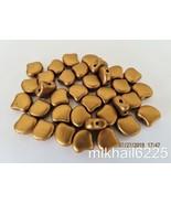 20 7.5 x 7.5 mm Czech Matubo Ginkgo Leaf Beads: Matte - Metallic Antique... - $1.28