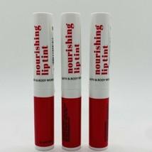 3-Pack Bath & Body Works Nourishing Lip Tint Glam Red 0.06 oz Sealed - $19.75