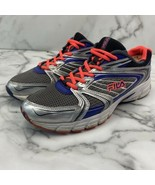 FILA Women's Running Sneakers Tennis Shoes Sliver Fluorescent Orange Pur... - $23.38