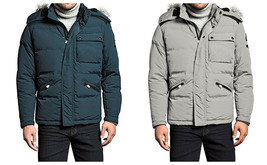 Men's Peak Down Jacket by Vry Wrm Super Warm Hooded Parka Coat NEW