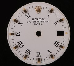 Rolex Lady Date Matte White Roman Numeral Dial-Gold Marks-T Swiss T-6900... - $112.20