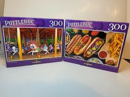 Puzzlebug 300 Piece Jigsaw Puzzles - Hot Dog Station & Enchanting Carous... - $21.94