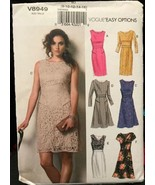 Vogue V8949 Pattern 6 Different Style Dresses Sizes 8-16 Easy Options Uncut - $26.43