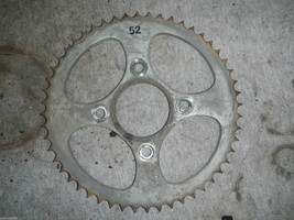 REAR SPROCKET 52 TEETH 1978 78 HONDA XL125 XL 125 - $12.92