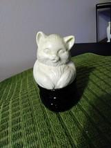 Vintage Avon Collectible Cat Bottle Pot Basket Avon Field Flowers Cream Sachet  image 1