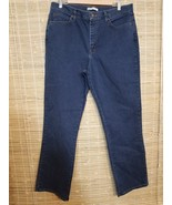 """LEE RELAXED FIT WOMENS DENIM BLUE JEANS RELAXED FIT WAIST SZ 16 LONG 35""""... - $14.69"""