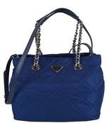 New Prada 1BG740 Bluette Tessuto Quilted Nylon Convertible Purse Handbag - $923.67