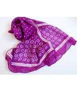 VTG Givenchy Made in Japan Polka Dot Circle Pattern Purple Long Scarf  4... - $59.40