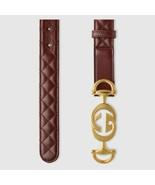 NWT GUCCI interlocking G Horsebit burgundy leather belt -  size 75-30; R... - $483.57