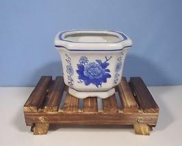Vintage Lingnan porcelain flower bonsai pot dis... - $15.96