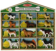 Melissa & Doug Canine Companions Pretend Play Figures - 12 Collectible Dog Breed - $19.79