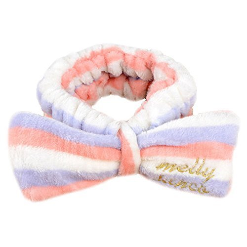 Set Of 2 Hair Band Makeup Hair Wash A Face With Hair Hoop Bowknot(Stripe)