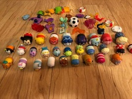 Disney Tsum Tsum Lot Of 28 Different Vinyl Figures With display accessories - $39.60