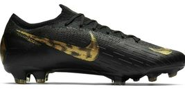 NIKE MERCURIAL VAPOR 12 ELITE FG BLACK/GOLD SIZE 11 BRAND NEW $250 (AH7380-077) image 4