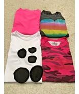Girl's Lot Of 4 Long Sleeve Crew Neck Tops (6-7) - $13.10
