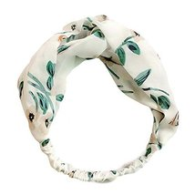 Nylon Head Wrap Headband Vintage Elastic Hairband Twisted Hair Band Flower