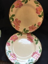 Franciscan Desert Rose Dinner Plate England Backstamp Flowers Vine Trim - $16.82