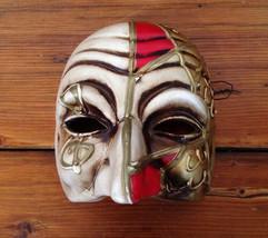 Vintage Italian Mod Dep Venetian Mardi Gras Carnival Ceramic Mask Wall H... - $100.00