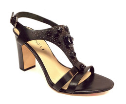 New Via Spiga Size 8 Alec Black Gem Mantle Heels Sandals Shoes - $68.00