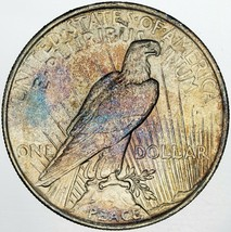 1923-P PEACE SILVER DOLLAR NICE BU NATURALLY TONED SUPERB COLORING UNC (MR) - $247.49