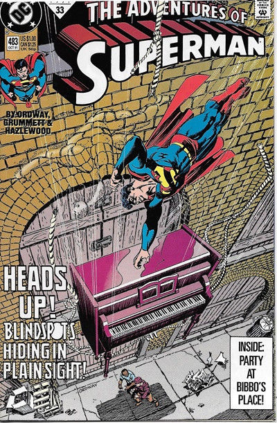 The Adventures of Superman Comic Book #483 DC Comics 1991 NEAR MINT NEW UNREAD