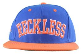 Young & Reckless LA Block Royal Blue Orange Snapback Baseball Hat Cap NWT