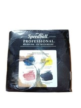 Professional Relief Ink 4 Color Set 8 Oz. Oil leaks inside like on the p... - $49.50