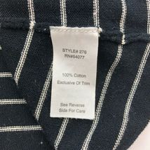 CAbi Cardigan Sweater Womens Small Black Stripe 3/4 Sleeve Ruffle Button B13-03P image 7