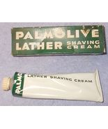 Vintage Palmolive Lather Shaving Cream Tube and Green Box 2.75 OZ Size - $14.95