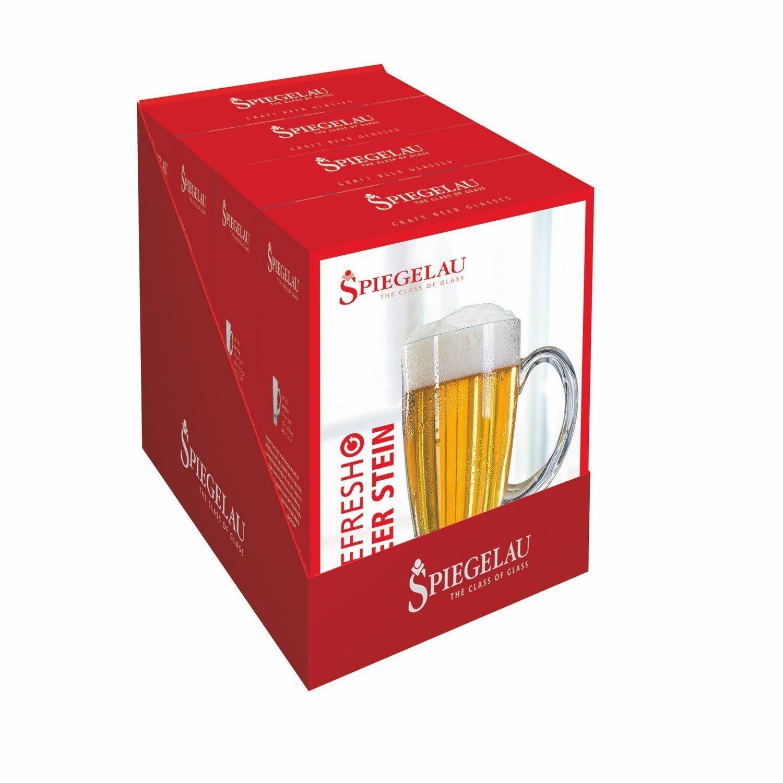 Drinking Glasses Sets, Spiegelau 21.9 Oz Refresh Beer Stein Clear Glass Set