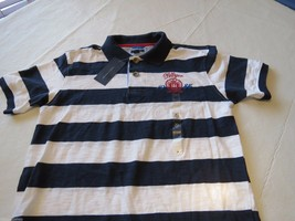 Boy's youth Tommy Hilfiger Polo shirt stripe XL 20 405 navy logo TH T881072 kids image 2