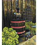 Winery Wine Press Antique by Snyder Food Art Wine Art Signed Canvas 20x30  - $266.31