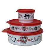 Tupperware Minnie Mouse Love Lot of 3 Snack Containers Bowls - $29.95