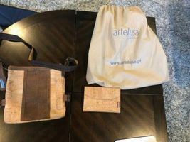 ARTELUSA CORK 2 Tone Purse with Corkor wallet image 9