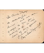 WILLIAM MENNINGER Autograph + wife Cat. Signed on album page. - $74.24