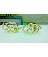 "Vintage Jewelry:1 1/2"" Gold Tone ""Sarah Cov"" Clip On Earrings 02-18-2019 - $7.99"